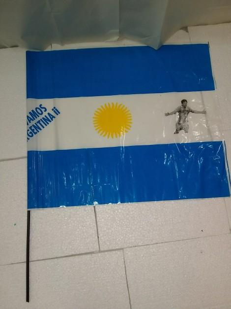 Bandera de mano grande de Argentina