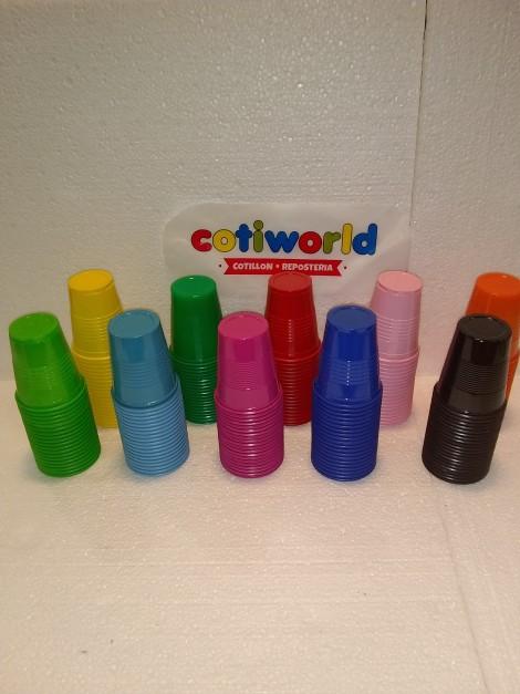 Vasos de plasticos de colores x20 unidades (180cc)