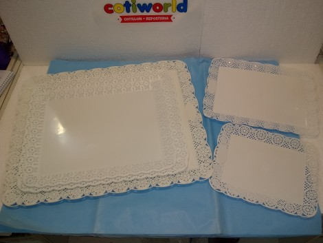 Bandejas para torta de plastico rectangular
