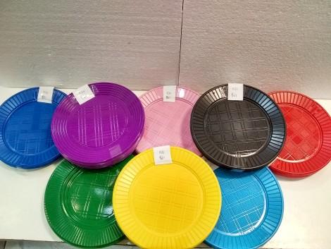 Platos de comida de plastico x25 unidades