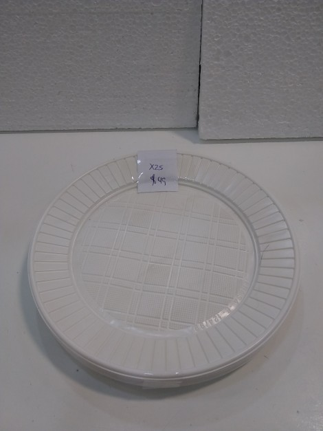 Platos comida de plastico x25 unidades
