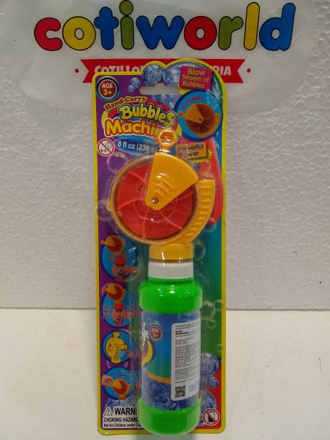 "Burbujero ventilador ""Bubbles Machine"""
