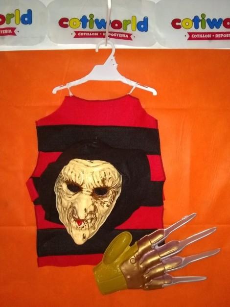 Set de Freddy con remera, garra y mascara