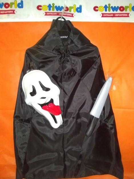 Set de Scream Movie con capa,careta y cuchillo