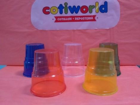 Vasos plasticos de colores (300cc) x unidad