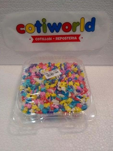 Caja flores chicas de pastillaje x1400 unidades