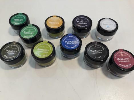 """Colorantes en polvo liposolubles """"Dust Colors"""""""