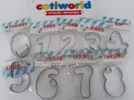 Cortantes de numeros del num: 0 al 9 (9cm de largo)