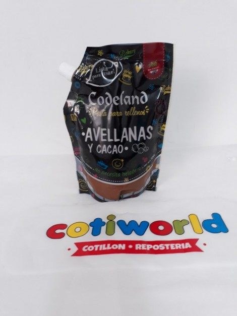 Pasta para relleno Codeland sabor: Avellana