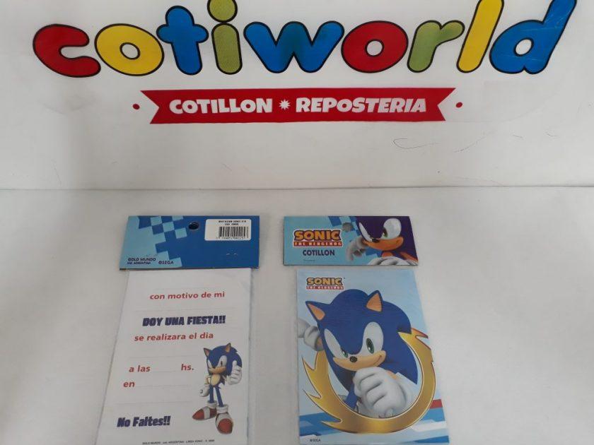 Tarjetas De Invitacion X10unidades Sonic