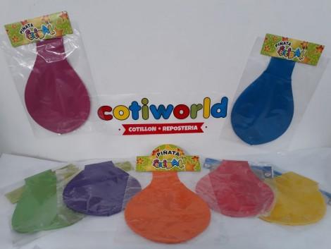 Piñata de globo chica surtidas de colores