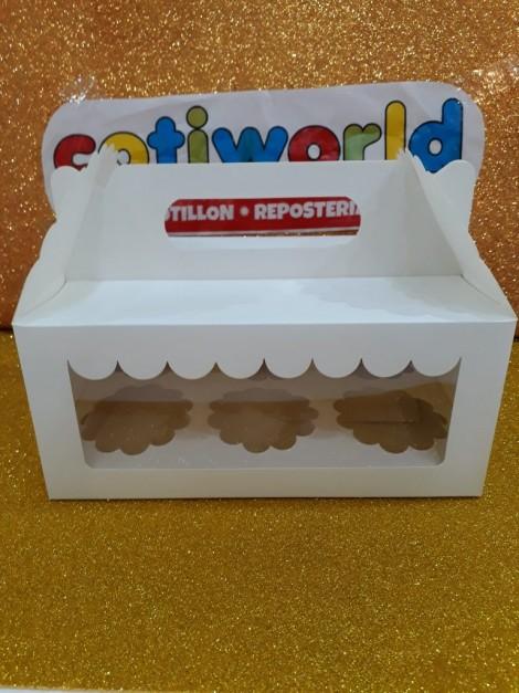 Caja para muffins x6 unidades