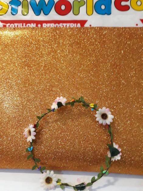 Coronita con flores