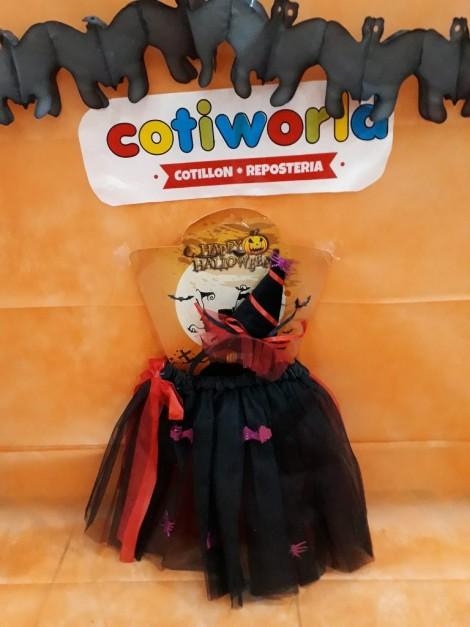 Set de niña bruja con tutu y sombrerito