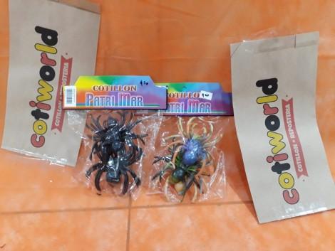 Arañas grandes de colores x6 unidades