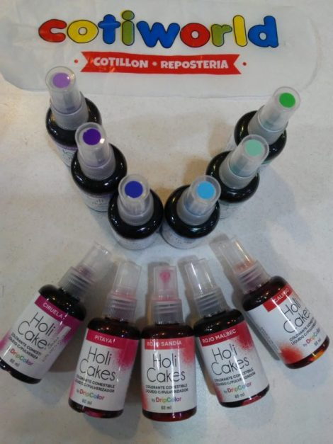 Colorantes liquidos Holi Cakes