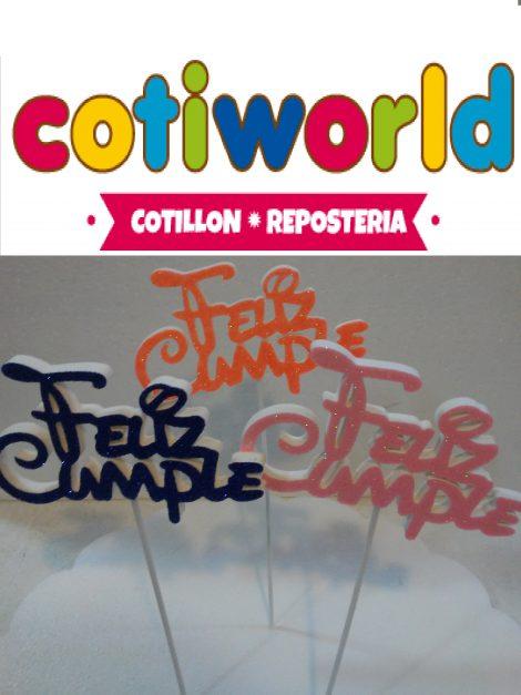 Cartel para torta Feliz Cumple letras Disney