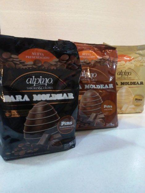Chocolate Alpino pins en caja x6kg
